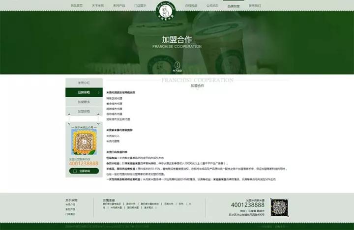 加盟网站定制设计方案