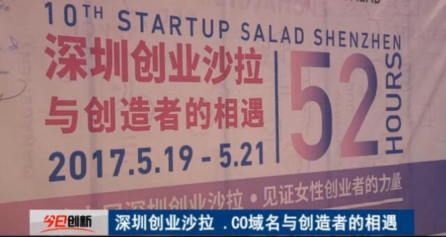 .co域名为深圳创业沙拉提供域名