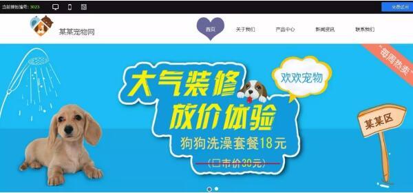 宠物网站建站模板