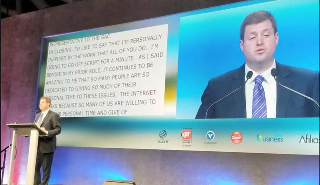 ICANN61会议 美国NTIA 新任助理部长David Redl 也到场致词