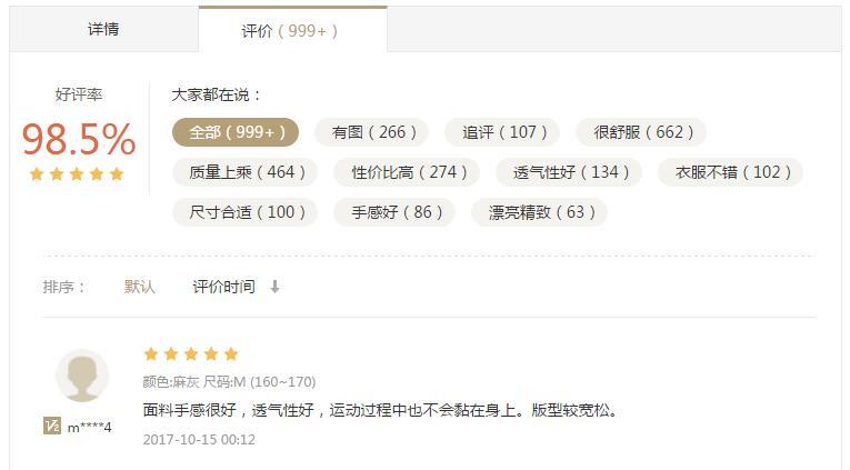 商城网站的产品评价页面设计