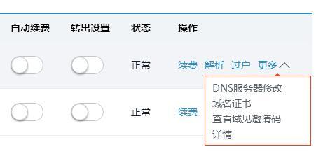 域名注册后做DNS解析