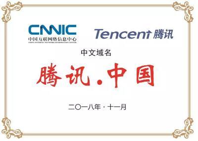 """中国互联网络信息中心向九家知名企业赠送了"""".中国""""中文域名"""""""